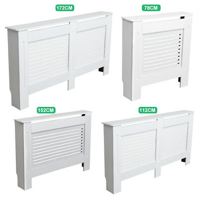 Radiator Cover Cabinet White Traditional  Wood Grill Cabinet Furniture S/M/L/XL