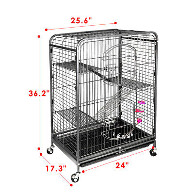 "Ferret Cage Rabbit Guinea Pig Chinchilla Rat Small Animal House 37"" 4 Levels"