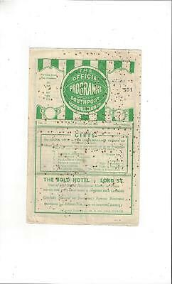 Southport v Barrow Football Programme 1946/47