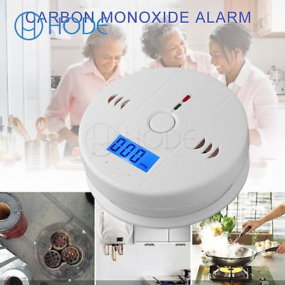 LCD CO Monoxide Poisoning Sensor Alarm Warning Detector Tester UK