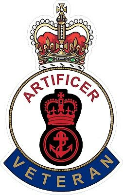 Royal Navy Artificer Veteran Sticker Uk - Cars - Vans - Laptops