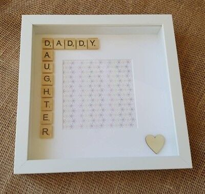 Daddy Daughter Scrabble Photo Frame Fathers Day Gift Christmas Birthday