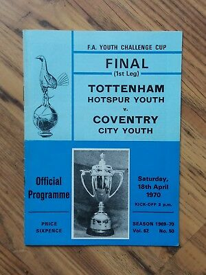 1970 FA Youth Cup Final - Tottenham vs Coventry City
