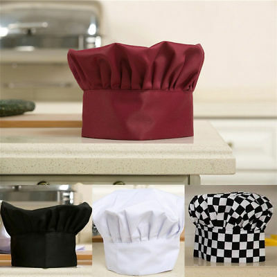 Simple Cap Baker Chef Fashion Catering Cook Kitchen Men Hat Elastic Adjustable
