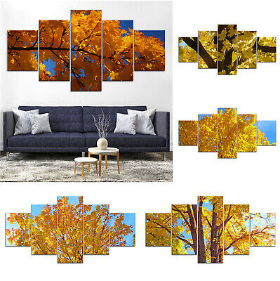 Maple Tree Canvas Print Painting Framed Home Decor Wall Art Poster 5Pcs