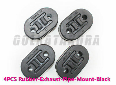 4xCar Polyurethane Rubber Exhaust Tail Pipe Mount Bracket Hanger Insulator BLACK