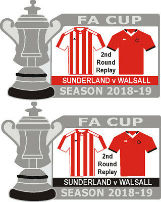 Sunderland v Walsall Cup 2nd Round Replay Match Badge 2018-19