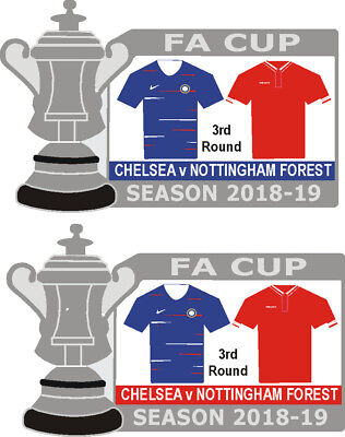 Chelsea v Nottingham Forest Cup 3rd Round Match Badge 2018-19