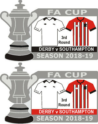 Derby v Southampton Cup 3rd Round Match Badge 2018-19