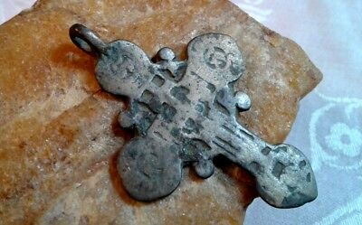 "ANTIQUE 17-19th CENTURY LARGE ORTHODOX ""OLD BELIEVERS"" ORNATE ""SUN"" CROSS"
