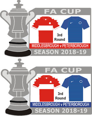 Middlesbrough v Peterborough Cup 3rd Round Match Badge 2018-19