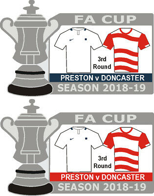 Preston v Doncaster Cup 3rd Round Match Badge 2018-19
