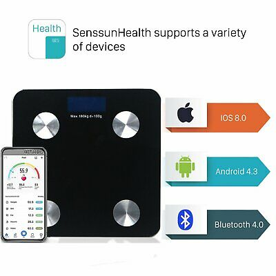 LCD Body Scale Smart Body BMI Bluetooth Weighing Scale APP Control IOS Android