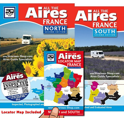 All the Aires France North & South 2 Motorhome campervan wild camping Vicarious