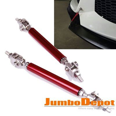 Red Adjustable Car Bumper Protector Splitter Rod Support For Honda Accord Civic