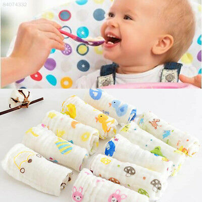 8496 Durable Baby Washcloth 6-Layer Lunch Bibs Burp Clothes Cotton Yarn