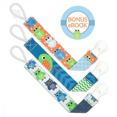 Liname Dummy Clip for Boys with BONUS eBook - 3 Pack Gift Packaging -...