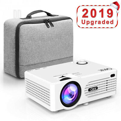 QKK Projector, Mini Projector with Carry Bag, Video Supports 1080P Full HD,...
