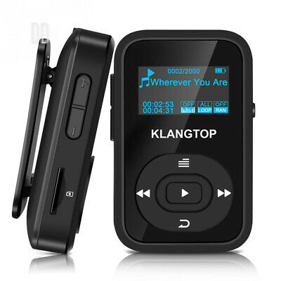 MP3 Player Sport Clip KLANGTOP Bluetooth Mini Music Players 8GB with FM...