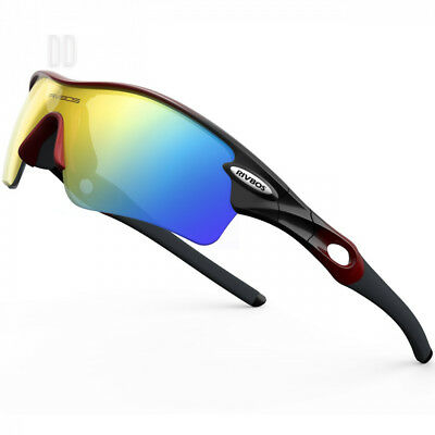 RIVBOS Polarized Sports Sunglasses Cycling Glasses with 5 Set...