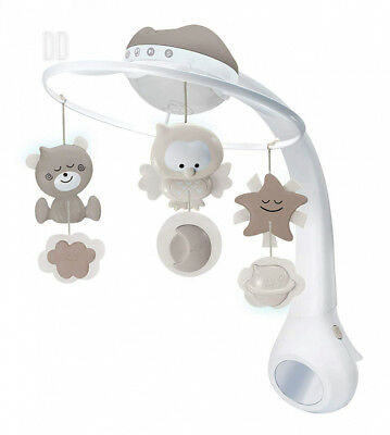 Infantino 3 in 1 Projector musical mobile, cot & table top night light, wake...