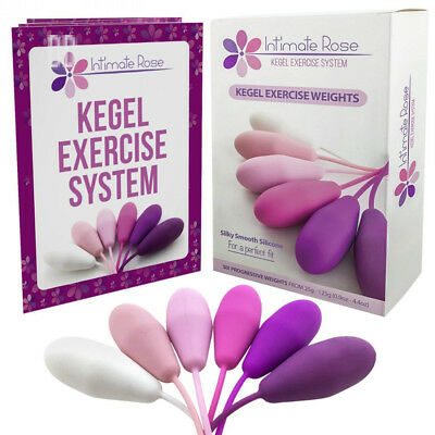 Intimate Rose Kegel Exercise Weights - Bladder Control & Pelvic Floor...