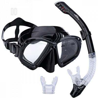 Supertrip Premium Snorkel Set Adult with 2 Mouthpieces Diving Mask...