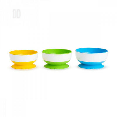 Munchkin Three Stay Put Suction Bowl 3-Pack