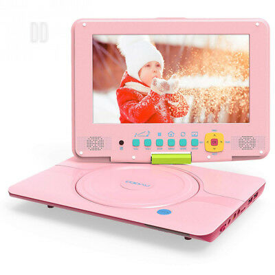 """COOAU 12"""" Portable DVD Player, CD 5h Rechargeable Battery with Indicator,..."""