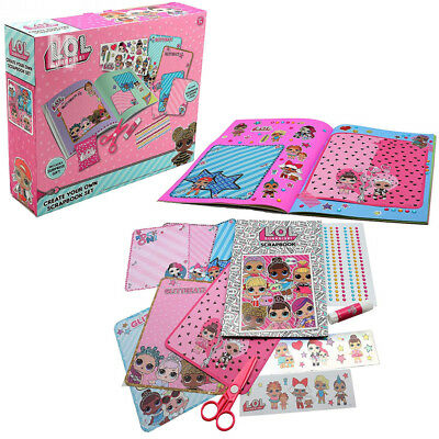 L.O.L. Surprise ! Create Your Own Scrapbook Kit Arts Craft Accessories for...