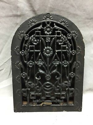 Antique Cast Iron Arch Dome Top Floor Register Heat Grate 9X12 Old Vtg 712-18C