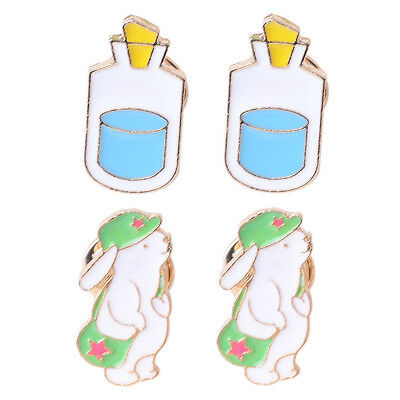 Cute Bear Bottle Enamel Brooch Pins Shirt Collar Pin Breastpin Jewelry Gifts