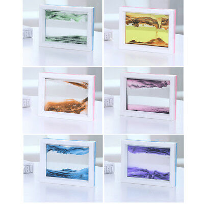 Framed Dynamic Moving Vision Sand Time Glass Picture Home Office Desk Wall Decor