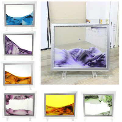 9Inch Grit Flow Moving Liquid Sand Painting Photo Frame Sensory Toy Home Decor
