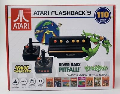 Atari Flashback 9, HDMI Game Consoles, 110 Games, Wired Joystick Controllers New