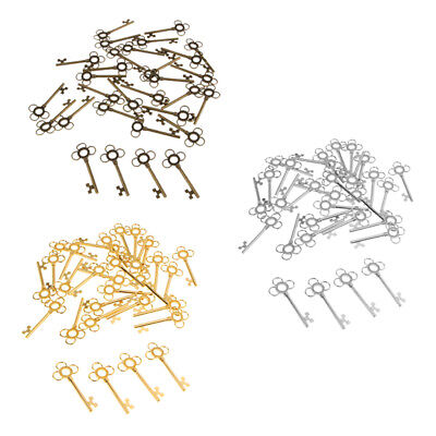 30Pcs 6cm Large Vintage Skeleton Key Charms Pendants for DIY Jewelry Making