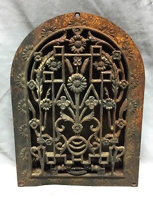 Antique Cast Iron Arch Dome Top Floor Register Heat Grate 8X12 Old Vtg 718-18C