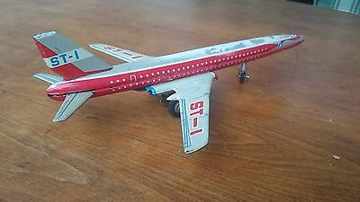 Blechflugzeug MF 093 Frktion Airplane tin toy friction