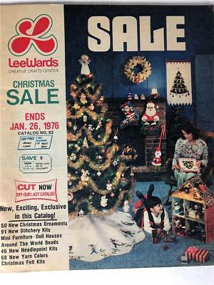 Vintage 1976 Lee Wards Christmas Sale Holiday Catalog Elgin Illinois RARE