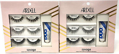 2a4984769cb 6 Pairs Ardell Lashes Lash Kits New & Sealed SAVAGE 601 Black 251 Wispies  113