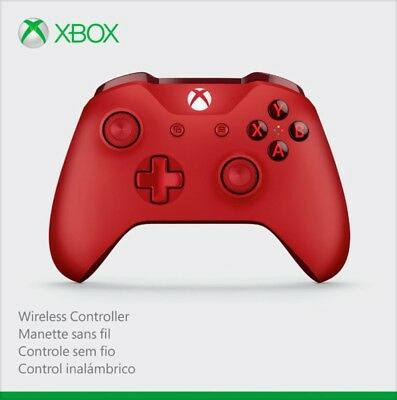 Official Microsoft Bluetooth Wireless Controller - Xbox One and Windows 10 - Red