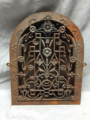 Antique Cast Iron Arch Dome Top Floor Register Heat Grate 9X12 Old Vtg 730-18C