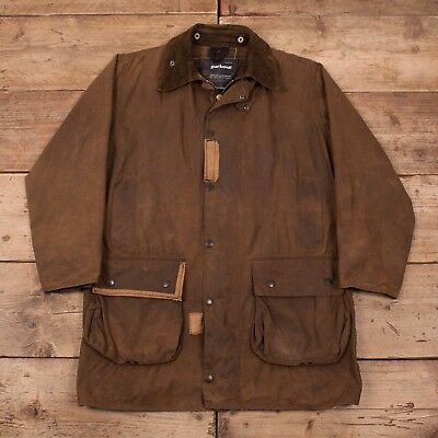 "Mens Vintage Barbour Northumbria Brown Wax Cotton Jacket Coat Medium 40"" R11024"