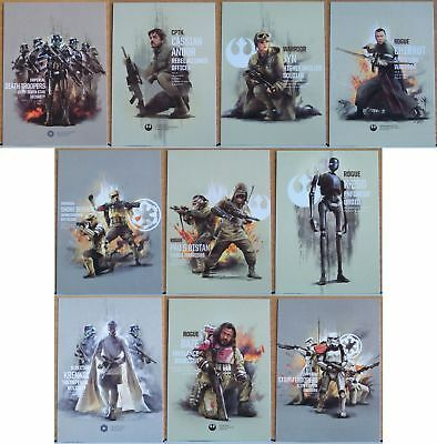 2017 Topps Star Wars Rogue One Prime Forces 10 card insert set. Series 2