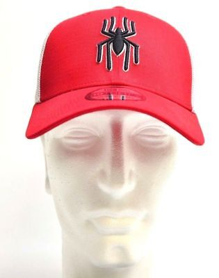 74c05369cc3 NEW!! HERO MESH Spider-man Logo New Era 39Thirty Red White Cap ...