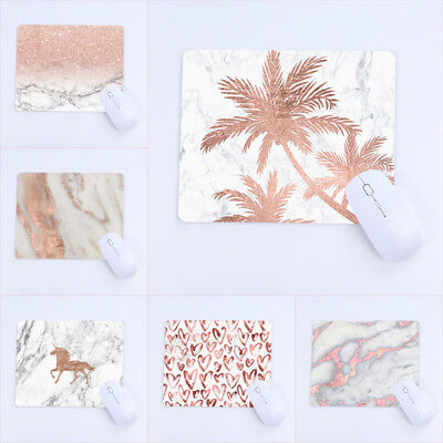 Rose Gold Mouse Pad Computer laptop Accessories MousePad Marble Pattern MousePad