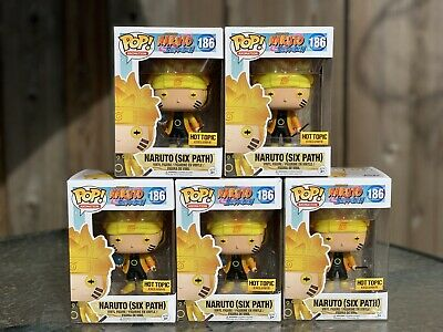 Funko POP! Animation Naruto Six Path GITD Glow Hot Topic Exclusive with Sticker