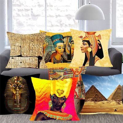 Ancient Egyptian Pharaoh Totem Cushion Pillow Cover Home Decor Sofa Pillow Case