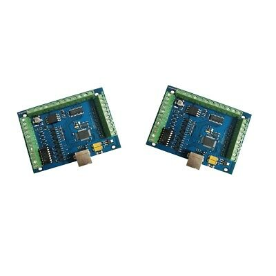 2pcs  USB 4 Axis Smooth Stepper Motion Control Breakout Boards CNC