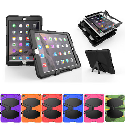 Kids Heavy Duty Shockproof Case Stand Protector For iPad Pro 9.7 10.5 12.9 Mini